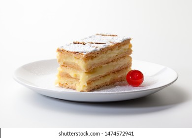 Millefoglie - Mille-feuille isolated on white