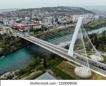 Millenium Bridge in Podgorica, Montenegro
