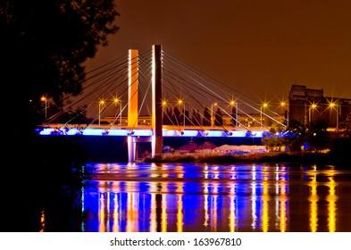 Millenium bridge, Wroclaw, Poland