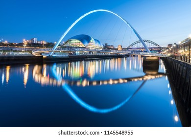Millennium Bridge in Gateshead England