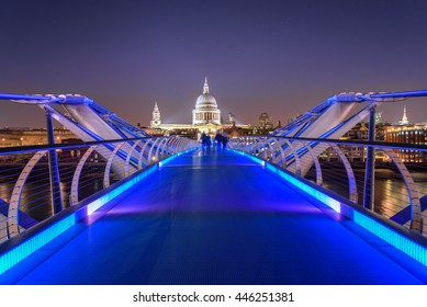 The Millennium Bridge, officially known as the London Millennium Footbridge, is a steel suspension bridge for pedestrians crossing the River Thames in London.