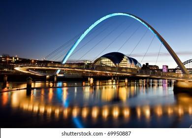Millennium Bridge on The River Tyne