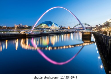 Millennium Bridge reflected in Water