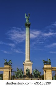 Millennium Monument on the Heroes' Square or Hosok Tere, Budapest, Hungary