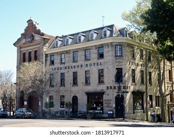 Millers Point, Sydney, Australia: September 12 2020 - Lord Nelson Brewery Hotel on Kent Street is heritage listed. The oldest working hotel in Sydney.