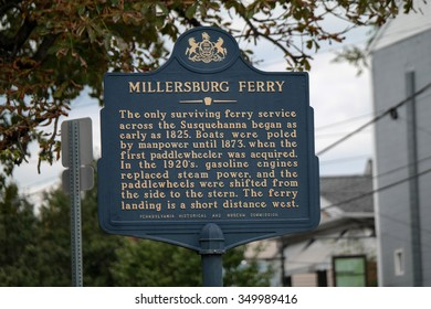 Millersburg, PA, USA - October 5, 2014: The historic market of the Millersburg Ferry.