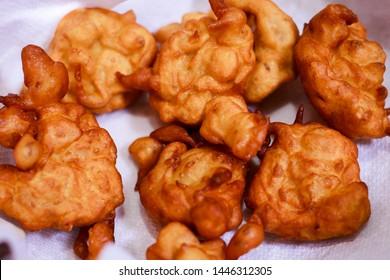 Millet Recipe Bonda. South Indian fast food Bonda with healthy Millets. Foxtail Millet Bonda Close up shot - Image
