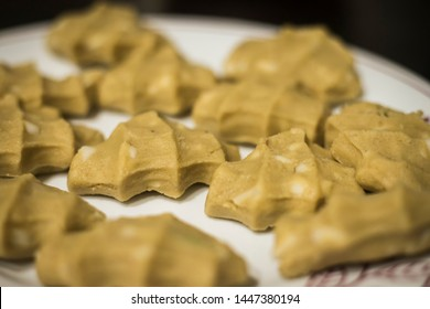 Millet Recipe Kudumulu.  Vinayaka Chiviti Special Recipe. South Indian Health food Kudumulu prepared with Foxtail Millets. Close up shot. Undrallu. - Image