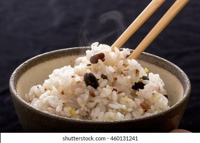 Of millet rice cooked freshly rice