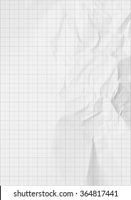 Millimeter graph white paper background.