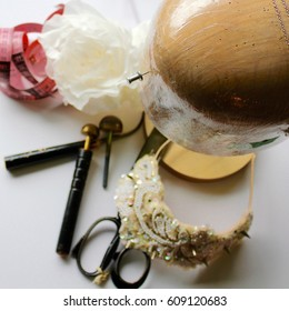 Millinery Tools and Silk Flower
