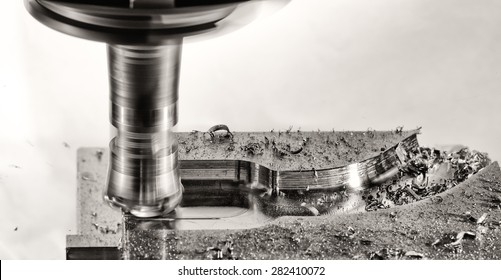 milling cutter work, monochrome version