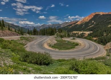 The Million Dollar Highway in the San Juan Mountains, Colorado