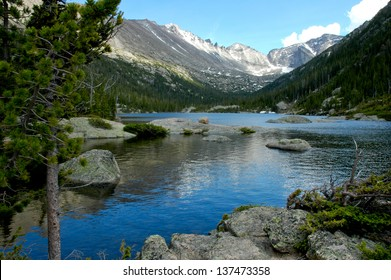 Mills Lake at Rocky Mountain National Park, Colorado