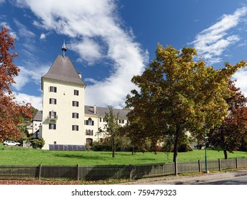 Millstatt Abbey in the fall. Town of Millstatt am See, state of Carinthia, Austria