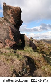 millstone grit formations on The Roaches, Blackshaw Moor, Staffordshire.
