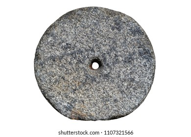 millstone on white background