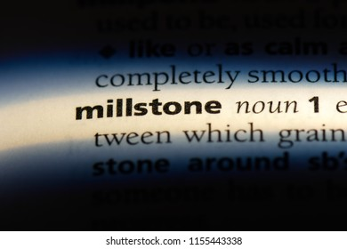 millstone word in a dictionary. millstone concept.