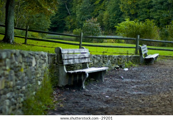 MillWood Park Bench in New Yok State Park
