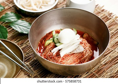 milmyeon Chilled Wheat Noodle Soup, korean cold noodles,
