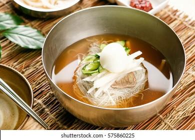 milmyeon Chilled Wheat Noodle Soup, korean cold noodles,