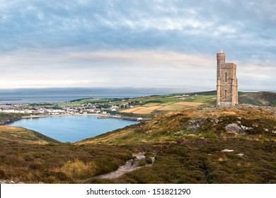 Milner's Tower on bradda Head near Port Erin in the Isle of Man, looking over the bay towards Port Erin. (several images stitched together)