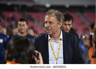 MILOVAN RAJEVAC head coach of Thailand in action during the 2018 FIFA World Cup Asian Qualifiers Match Thailand and UNITED ARAB EMIRATES at Rajamangala Stadium on June 13,2017 in Bangkok,Thailand.