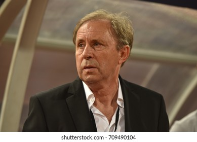 MILOVAN RAJEVAC head coach of Thailand in action during the 2018 FIFA World Cup Asian Qualifiers Match Thailand and Iraq at Rajamangala Stadium on August 31,2017 in Thailand.