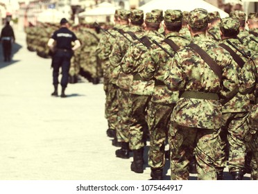 Miltary Parade of Serbian Army, 23.04.2018, Novi Sad, Serbia