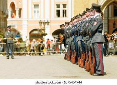 Miltary Parade of Serbian Army, 23.04.2018, Novi Sad, Serbia
