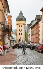 Miltenberg, Germany - 7/4/2013:  The old city gate in Miltenberg, Bavaria, Germany