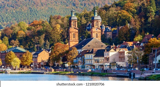 MILTENBERG, GERMANY - OCTOBER 21, 2018: Medieval german town Miltenberg on Main river, Lower Franconia, Bavaria, Germany.