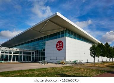 MILTON KEYNES UK - SEPTEMBER 15TH 2018; Facade of Asda superstore in Milton Keynes