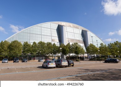 MILTON KEYNES, UNITED KINGDOM - OCTOBER 4, 2016: Xscape Milton Keynes is an entertainment destination offering extreme sports and leisure activities where you can play, eat & shop day and all night.