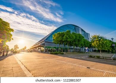 Milton Keynes,England, June 2018:  Xscape Milton Keynes is an entertainment destination offering extreme sports and leisure activities
