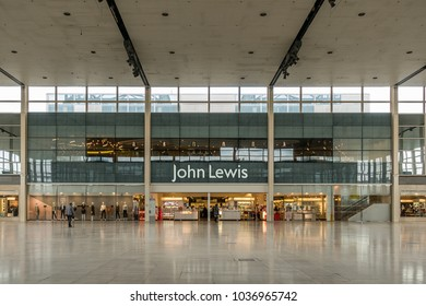 Milton Keynes,England on 16th Feb 2018: The John Lewis Partnership is a British company which operates John Lewis department stores, Waitrose supermarkets. Milton Keynes is one of its flagship stores