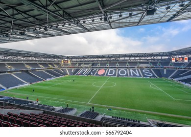 Milton Keynes,England on 22nd Jan 2017:Stadium mk is a football ground in the Denbigh district of Milton Keynes, it is the home ground of Football League One side Milton Keynes Dons F.C.