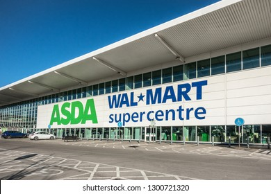 Milton Keynes,England on 28th Jan 2019:Asda is a UK supermarket retailer, headquartered in Leeds.The company became a subsidiary of the American corporate giant Walmart after a £6.7 billion takeover