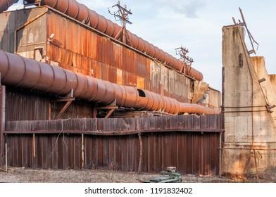 Milton, PA/USA - April 2 2010: Decaying Milton Steel plant