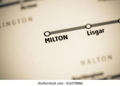 Milton Station. Toronto Metro map.