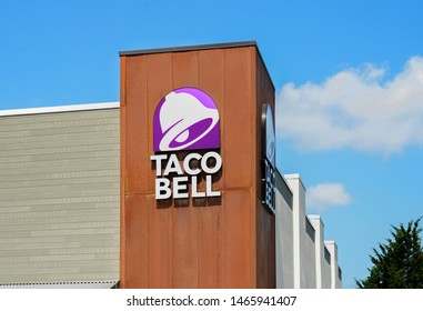 Milton, WA / USA - July 30, 2019: Taco Bell building exterior