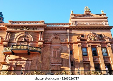 Milwaukee, USA - October 19, 2018 - The Pabst Theater building in Milwaukee, Wisconsin
