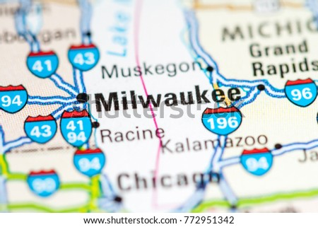 Milwaukee Usa On Map Stock Photo Edit Now 772951342 Shutterstock