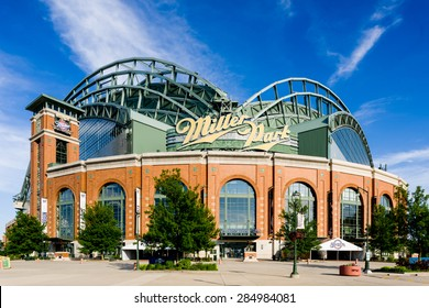 Milwaukee, WI - 6 June 2015:  Miller Park home of the Milwaukee Brewers.