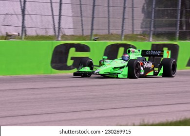 Milwaukee Wisconsin, June 17, 2011: Indycar Indyfest race Milwaukee Mile. Danica Patrick godaddy racing Andretti Autosport