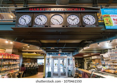 MILWAUKEE, WISCONSIN - MARCH 17 : Shops at Milwaukee Public Market on March 17, 2018. The market has been open since 2005