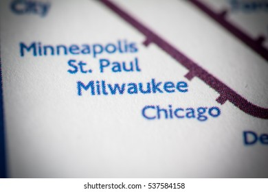 Milwaukee, Wisconsin on a geographical map.