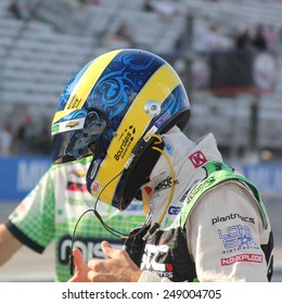 Milwaukee Wisconsin, USA - August 16, 2014: Verizon Indycar Series Indyfest ABC 250 Practice and Qualifying sessions on track action. Sebastien Bourdais Le Mans, France Mistic KVSH Racing