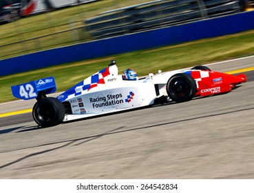 Milwaukee Wisconsin, USA - August 16, 2014: Indycar Indy Lights series practice and qualifying, Milwaukee Mile. 42 Jack Harvey - United Kingdom, Schmidt Peterson Motorsports