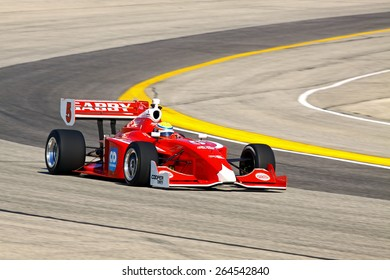 Milwaukee Wisconsin, USA - August 16, 2014: Indycar Indy Lights series practice and qualifying, Milwaukee Mile. 5 Gabby Chaves - Colombia, Belardi Auto Racing